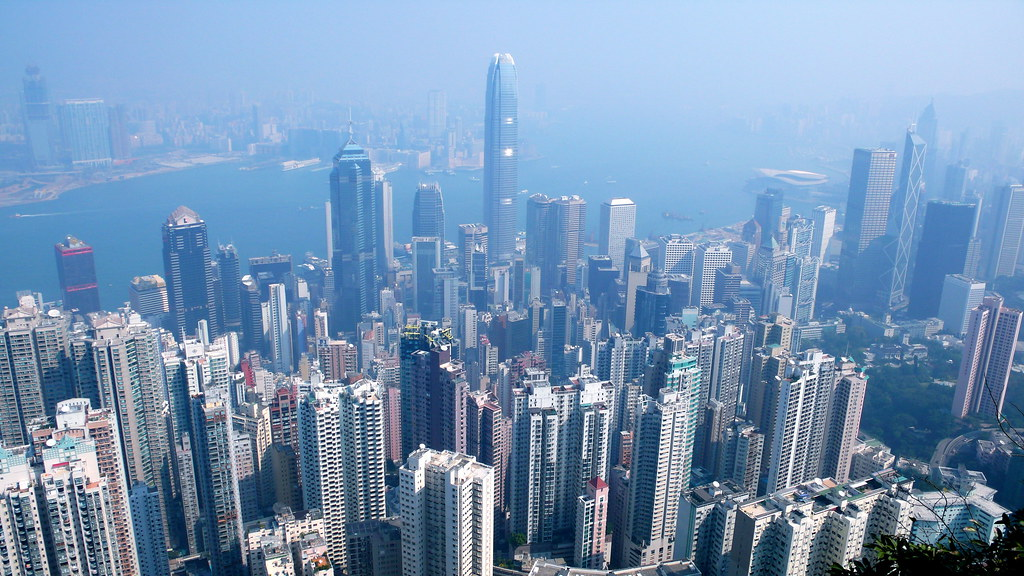 """""""Hong Kong skyline from the Peak"""" by xopherlance is licensed with CC BY-NC-ND 2.0. To view a copy of this license, visit https://creativecommons.org/licenses/by-nc-nd/2.0/"""